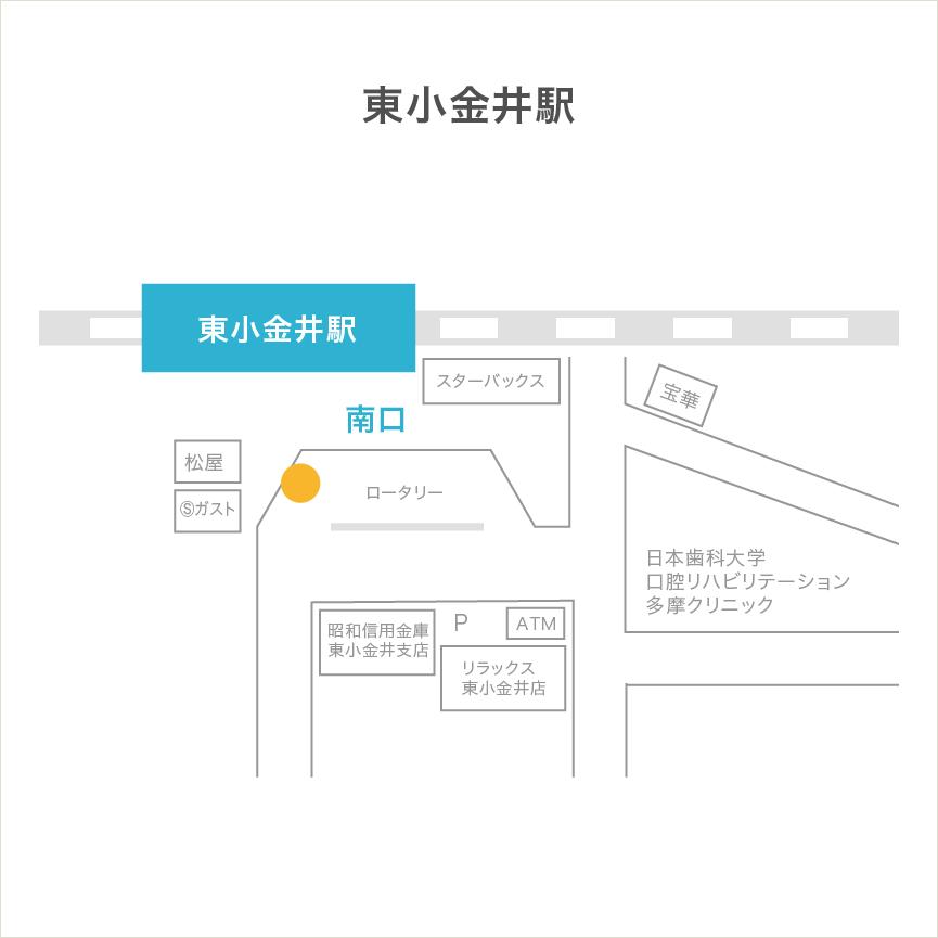 送迎車位置(東小金井駅)